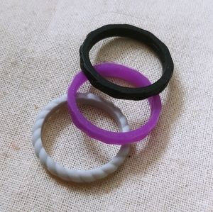 Set of silicon stacking rings